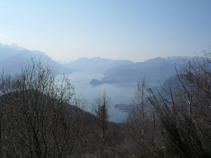 The view from above Menaggio