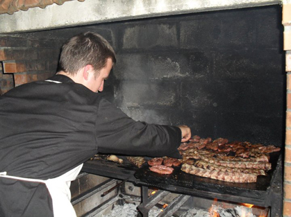 Radek cooking our weekly BBQ