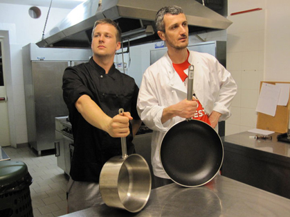 Radek and Davide our chefs