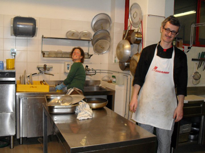 Valentina and Davide in the kitchen