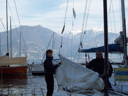 Preparing the boat to sail